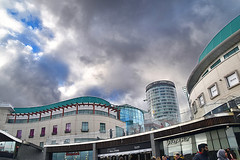 Bullring Central Shopping, Birmingham. (Manoo Mistry) Tags: birmingham englanduk westmidlands nikon nikond5500 tamron tamron18270mmzoomlens town centralbirmingham shopping buildings modernarchitecture sky