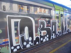 623 (en-ri) Tags: coban pevs crew nero verde rosso bianco 18 2018 train torino graffiti writing