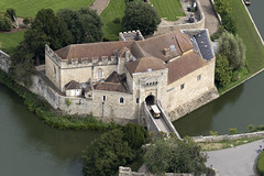 A siege device crossing the bridge to the Stable Lodge at Leeds Castle in Kent uk aerial (John D Fielding) Tags: leedscastle castle stablelodge kent moat above aerial nikon d810 hires highresolution hirez highdefinition hidef britainfromtheair britainfromabove skyview aerialimage aerialphotography aerialimagesuk aerialview drone viewfromplane aerialengland britain johnfieldingaerialimages fullformat johnfieldingaerialimage johnfielding fromtheair fromthesky flyingover fullframe