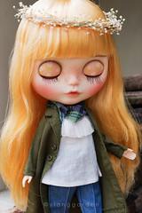 Vintage Ruffle Top (Ylang Garden) Tags: blythe momoko top vintage pant coat