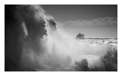 'Chase' - Newhaven Harbour / March 10th (Edd Allen) Tags: newhaven harbour newhavenharbour sea seaside coast coastal waves storm rain clouds moody atmosphere atmopsheric ethereal serene bucolic nikond810 nikkor70200mm england uk southcoast southeast eastsussex landscape seascape blackandwhite bw ferry