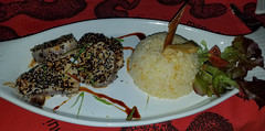 20181217_215824 (jaglazier) Tags: 121718 2018 chile december easterisland entrees fish hangapiko hangaroa rice tatakuvave copyright2018jamesaglazier restaurants sesameseeds tuna valparaisoregion