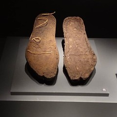 Shoe sole, wood, Hellenistic Period, 4th cen. BC., Troy Museum. (ancient pix) Tags: ancient history ancienthistory photo photography culture art arts archaeology archeology