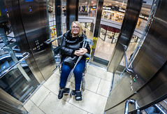Wheelchair access. (CWhatPhotos) Tags: cwhatphotos lift wheelchair broken foot digital camera photographs photograph pics pictures pic picture image images foto fotos photography artistic that have which with contain olympus epl9 pen themetrocentre intu shopping metro shops shop centre mzuiko zuiko prime lens 8mm f18 fisheye fish eye wide angle view