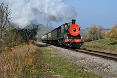 Remembrance (Pete Rodgers) Tags: steam trains gloucestershirewarwickshirerailway railways 2807 heritagerailways poppy armistice