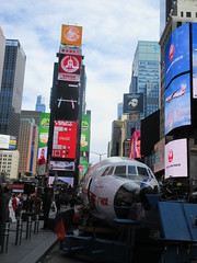 2019 Celebration of Retro TWA Hotel - Wingless Plane Times Square 4486 (Brechtbug) Tags: 2019 celebration retro twa hotel brooklyn wingless 1958 lockheed constellation connie l1649a starliner airplane visits times square before heading trans world airlines new yorks john f kennedy international airport known york anderson field commonly idlewild city march 23rd nyc 02232019