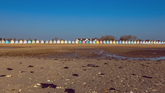 Beach Huts on Mersea (pboolkah) Tags: essex england unitedkingdom gb canon canon5d canon5dmkiv mersea beach sky