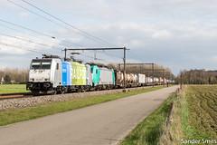 LINΞΛS 186 295 Boechout (Sander_Smits) Tags: lineas railpoo br186 traxx boechout l15 trein train zug railway railroad freight hupac