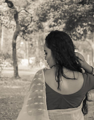 Lost in The Existence (MashrikFaiyaz) Tags: flickrunitedaward asia southasia dhaka bangladesh spring february nikon d5300 fashion model girl woman female lady portrait posing outdoor natural light sunlight monochrome blackandwhite sensual conceptual bareback dress saree getup hair beautiful attractive