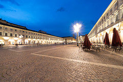 San Carlo square in Turin at evening (clodio61) Tags: europe italy piedmont sancarlo torino turin ancient architecture building city color evening historic landmark night old photography square urban
