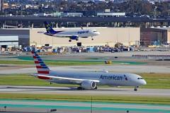 B787 N824AN + A320 N838NK Los Angeles 21.03.19 (jonf45 - 5 million views -Thank you) Tags: airliner civil aircraft jet plane flight aviation lax los angeles international airport klax b787 787 b789 789 american airlines boeing 7879 n824an spirit airbus a320 n838nk