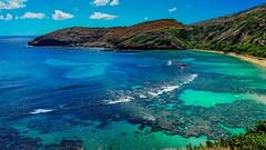 Hanauma Bay (ArmyJacket) Tags: hawaii hawaiianislands usa oahu honolulu vacation tourist hanaumabay hanauma koolau kokocrater reef bay ocean water marine beach snorkel sky