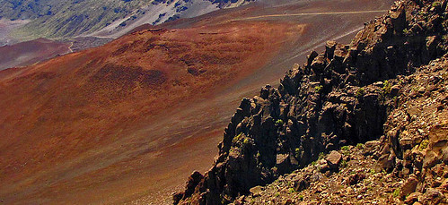 inside the Haleakala crater