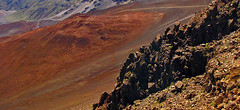 inside the Haleakala crater (scott1346) Tags: volcano hawaii island maui caldera colors blue tan orange sienna black red grey 1001nights 1001nightsmagiccity contactgroups thegalaxy