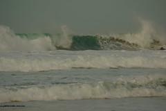 3KB13391a_C_2019-02-06 (Kernowfile) Tags: pentax conwall cornish stives porthmeorbeach sea waves breakingwaves spray foam spindrift rocks sky theisland