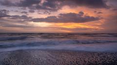 Sunset Textures (jillyspoon) Tags: coast scotland wigtownshire monreith waves stones irishsea machars textures evening winter sonya7iii sigmamc11 alpha