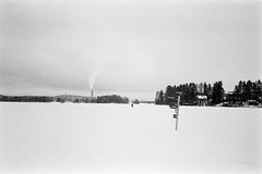 Skiing (Petri Karvonen) Tags: skiing finland kuopio snow olympus mjuii kodak trix 400 film blackandwhite bw 400tx monochrome winter μmjuii