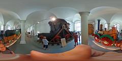 Dresden - Verkehrsmuseum, Saxonia und Eisenbahn-Elektromotor 360 Grad (www.nbfotos.de) Tags: dresden verkehrsmuseum johanneum eisenbahn saxonia lokomotive eisenbahnelektromotor 360 360gradfoto theta360de ricohthetas