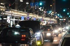 traffic, Kyoto, Japan (Plan R) Tags: traffic car taxi bus evening night street kyoto nikon d7000