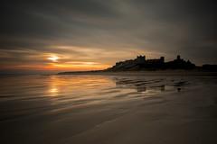 TRANQUILLITY (lynneberry57) Tags: bamburgh castle northumberland sea coast sky sunrise tranquillity canon leefilters seascape beach mutedcolours reflections sand wet