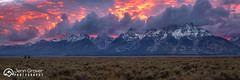 Teton Range Sunset: Revisiting this pano with a 3:1 crop and processing with a newer version of LR. (Jenn Grover) Tags: 2013 grandtetonnationalpark wypink autumn clouds fall fire firey landscape moody mountains mountainscape pano panorama park sunset tetonrange wyoming