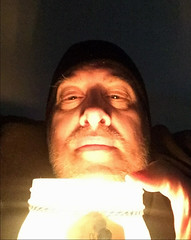 Day 2528: Day 338: Lit from below (knoopie) Tags: 2018 december iphone picturemail doug knoop knoopie me selfportrait 365days 365daysyear7 year7 365more day2528 day338