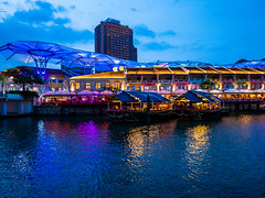 Clarke Quay in blue hour (Thanathip Moolvong) Tags: singapore centralregion sg