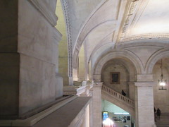 New York Public Library Entrance Hall Lobby 3619 (Brechtbug) Tags: new york public library entrance hall lobby 5th ave facade city interior stairs staircase stone marble 2019 nyc 03122019 art architecture designed by artist sculptor paul wayland bartlett carved the piccirilli brothers was two lions main branch stephen a schwarzman building consolidation astor lenox libraries beaux arts design style