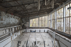 Lazurny (Sean M Richardson) Tags: abandoned pool lazurny chernobyl exclusion zone pripyat ghost town ukraine decay details fall autumn travel explore canon photography historic history texture perspective architecture color light classic