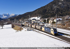 WLB Cargo Rh1216.950 (Marco Stellini) Tags: wiener lokalbahnen cargo 1216 taurus siemens es64u4 tarvisio alps italia kerntern zug
