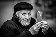 you are never completely selfie (Gerrit-Jan Visser) Tags: amsterdam blackandiwhite bnw contact oldman portrait selfie streetphotograaphy apple iphone