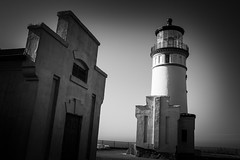 My Left Your Right (wrachele) Tags: lighthouse washington capedisappointment blackandwhite monochrome bw fuji fujifilm fujinon pacific