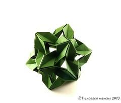 Squeezer (mancinerie) Tags: origami paperfolding papiroflexia papierfalten francescomancini mancinerie modularorigami polyhedra icosahedron