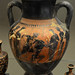 Athenian Black Figure amphora representing Theseus killing the Minotaur