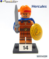 14) Hercules (WhiteFang (Eurobricks)) Tags: lego minifigures cmfs collectable walt disney mickey characters licensed design personality animated animation movies blockbuster cartoon fiction story fairytale series magic magical theme park medieval stories soundtrack vault franchise review ancient god mythical town city costume space