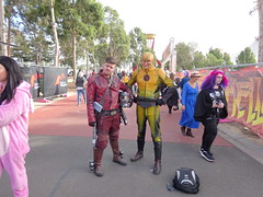 Star-Lord and the Reverse Flash (Sconderson Cosplay) Tags: supanova melbourne showgrounds april 2019 cosplay superhero saturday eobard thawne reverse flash supervillain dc comics marvel arrowverse starlord peter quill guardians galaxy