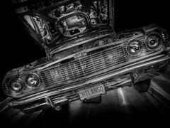 Bad boys...bad boys...what you gonna do? (Dave GRR) Tags: classic retro vintage car muscle american toronto auto show 2019 monochrome mono black white bw olympus