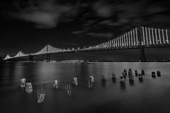 San Francisco Bay Bridge (Above and Below the Waterline) Tags: bridge sanfrancisco baybridge bay pier pilon water sf california