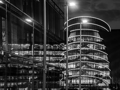 Setz in the city (Gullivers adventures) Tags: city light eire buildings architecture ambient monochrome reflecting mirror clouds moody explore flickr fine