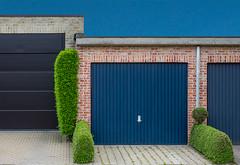 Parking green (jefvandenhoute) Tags: belgium belgië edegem green garage shapes light geometric