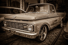 FORD Custom Cab Pickup Truck - Sepia- (Peters HDR hobby pictures) Tags: petershdrstudio hdr classictruck classiccar pickuptruck truck uscar car classicremise ford auto transporter lkw klassiker oldtimer sepia