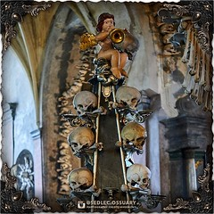 Instead of a capital at the top, you will find various plump cherubs (or putto), holding musical instruments or skulls in their laps. (To be continued...) . 💀Turn on post notifications, click link in BIO to follow along on our journey, and sign up o (Sedlec Ossuary Project) Tags: sedlecossuaryproject sedlec ossuary project sedlecossuary kostnice kutnahora kutna hora prague czechrepublic czech republic czechia churchofbones church bones skeleton skulls humanbones human mementomori memento mori creepy travel macabre death dark historical architecture historicpreservation historic preservation landmark explore unusual mechanicalwhispers mechanical whispers instagram ifttt