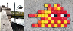 Space invader [Paris 16e] (biphop) Tags: europe france paris streetart space invader spaceinvader mur wall installation mosaic mosaique 75016 pa1309