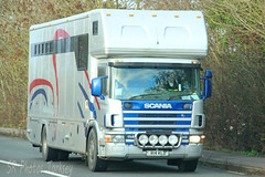 Scania 114 Horsebox R14 KLD (SR Photos Torksey) Tags: transport truck haulage hgv lorry lgv logistics road commercial vehicle freight traffic scania horsebox