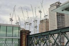 urban sky (Anna Grimsey) Tags: streetphotography architecture london southbank cranes skyline urban