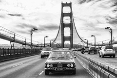 Classic Cars on Classic Bridges (Thomas Hawk) Tags: 30cs america bmw bmw30cs bmwe9 bavarianmotorworks bayarea bayerischemotorenwerke bimmer california e9 goldengatebridge sf sfbayarea sanfrancisco scottjordan usa unitedstates unitedstatesofamerica westcoast auto automobile bridge bw car classiccar sharknose ultimatedrivingmachine vintagecar werks us fav10 fav25 fav50 fav100