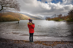 The Lake ....Padarn. (Einir Wyn Leigh) Tags: landscape country wales uk light lake water mountains rural trees park outside nikon colorful february winter clouds weather