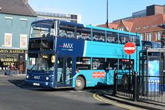 ANE 7424 @ Newcastle-upon-Tyne Eldon Square/Haymarket bus station (ianjpoole) Tags: arriva north east volvo b7tl alexander alx400 lj55bpz 7424 working sapphire route 43 newcastleupontyne haymarket bus station morpeth this is former london vla152