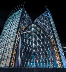the cathedral of christ the light (pbo31) Tags: oakland california nikon d810 color night dark black city urban march 2019 boury pbo31 lakemerritt church contemporary architecture religion panoramic large stitched panorama eastbay alamedacounty
