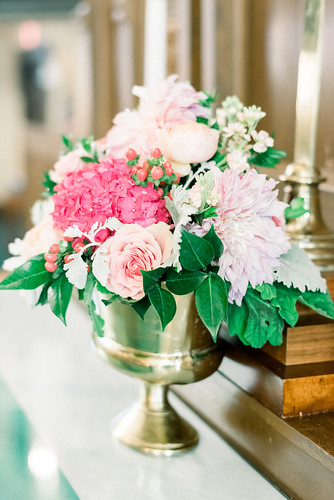 "Pink Hydrangea Floral Centerpiece • <a style=""font-size:0.8em;"" href=""http://www.flickr.com/photos/81396050@N06/32523287727/"" target=""_blank"">View on Flickr</a>"
